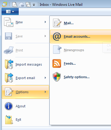 how to configure windows live mail step by step
